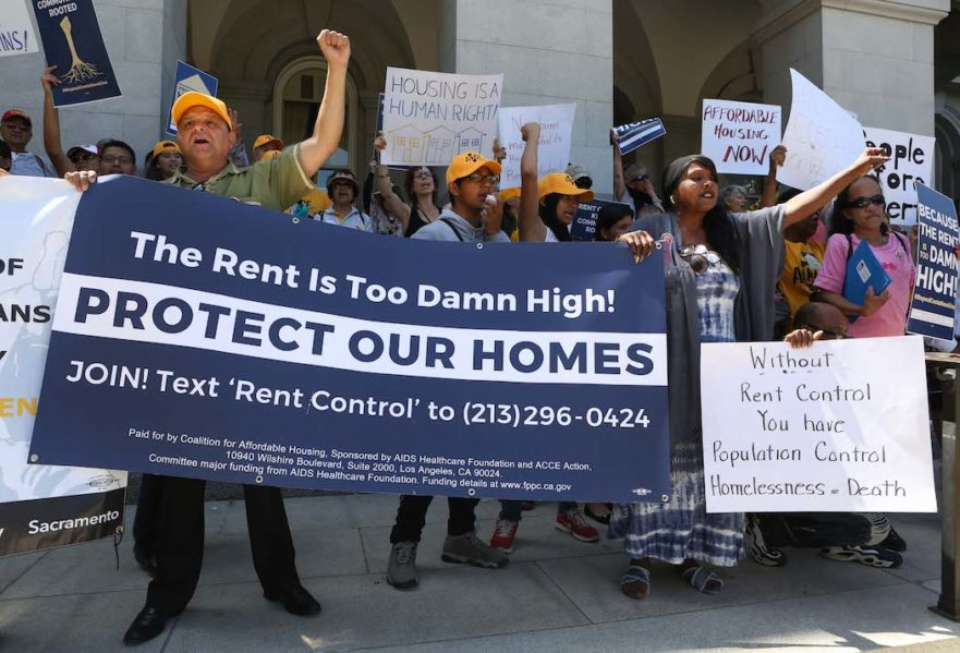 Housing Is a Human Right rent control California
